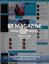 Joomla tutorials to install and customize BT Magazine Template version 1.0, Joomla 3.X
