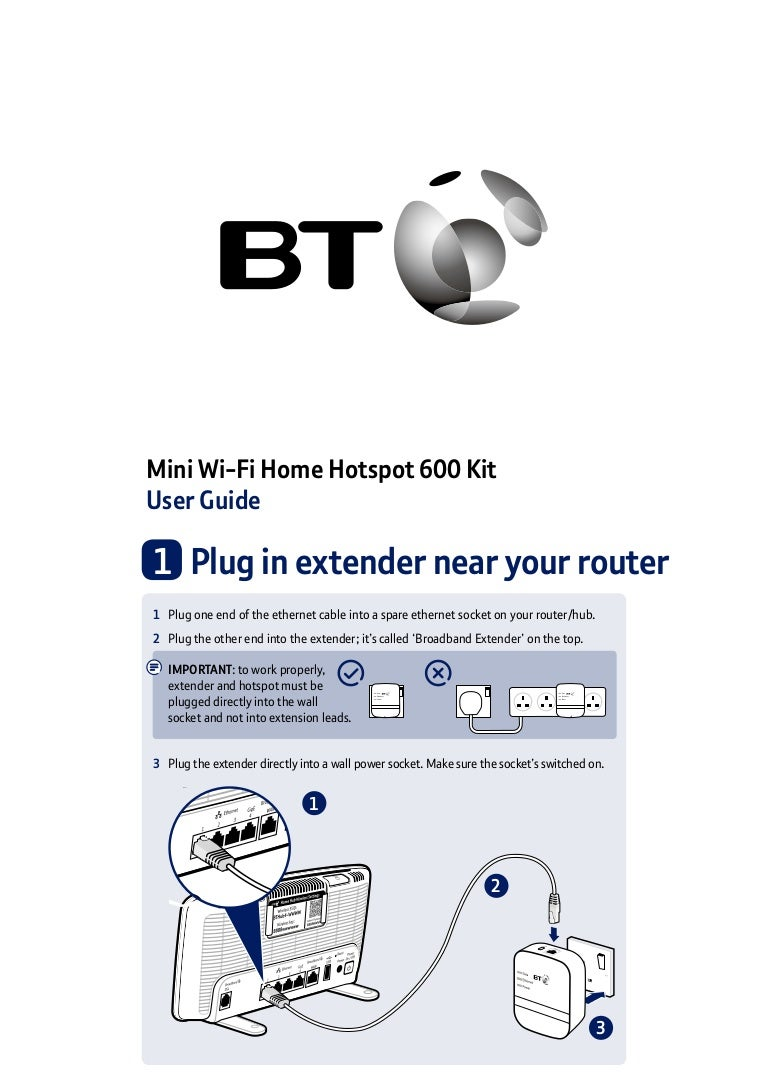 Bt Mini Wi Fi Home Hotspot 600 Kit User Guide Ethernet Wiring