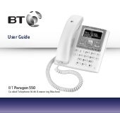 BT Paragon 550 Corded Telephone User Guide