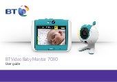BT Video Baby Monitor 7030 User Guide