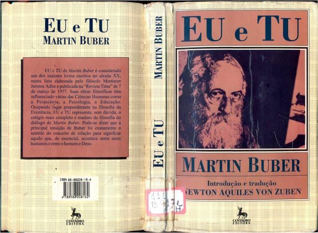 Buber, martin. eu e tu