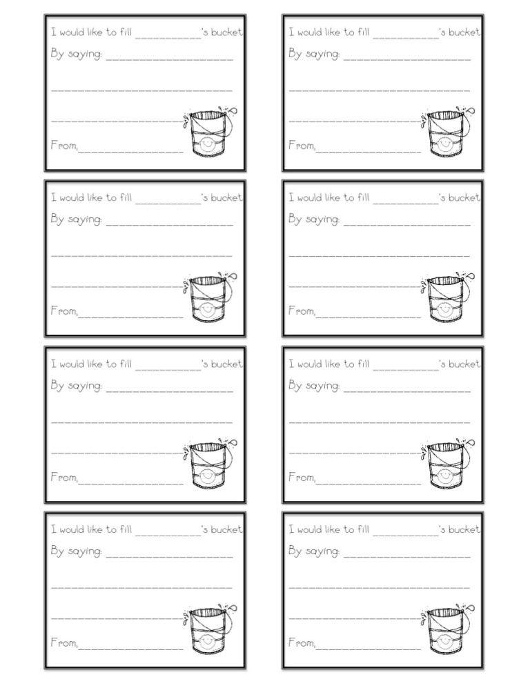Bucket filling form