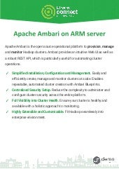 Apache Ambari and Big data components on AARCH64