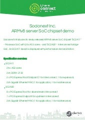Socionext ARMv8 server SoC chipset demo
