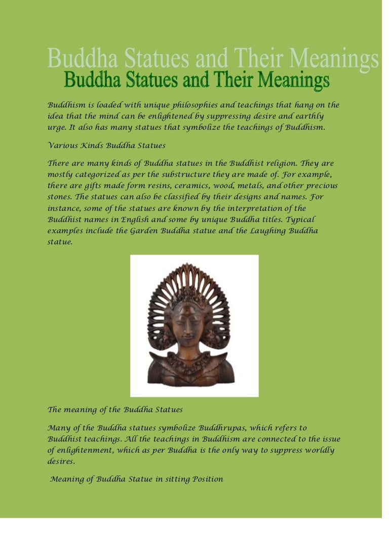 Buddha statues and their meanings biocorpaavc Choice Image