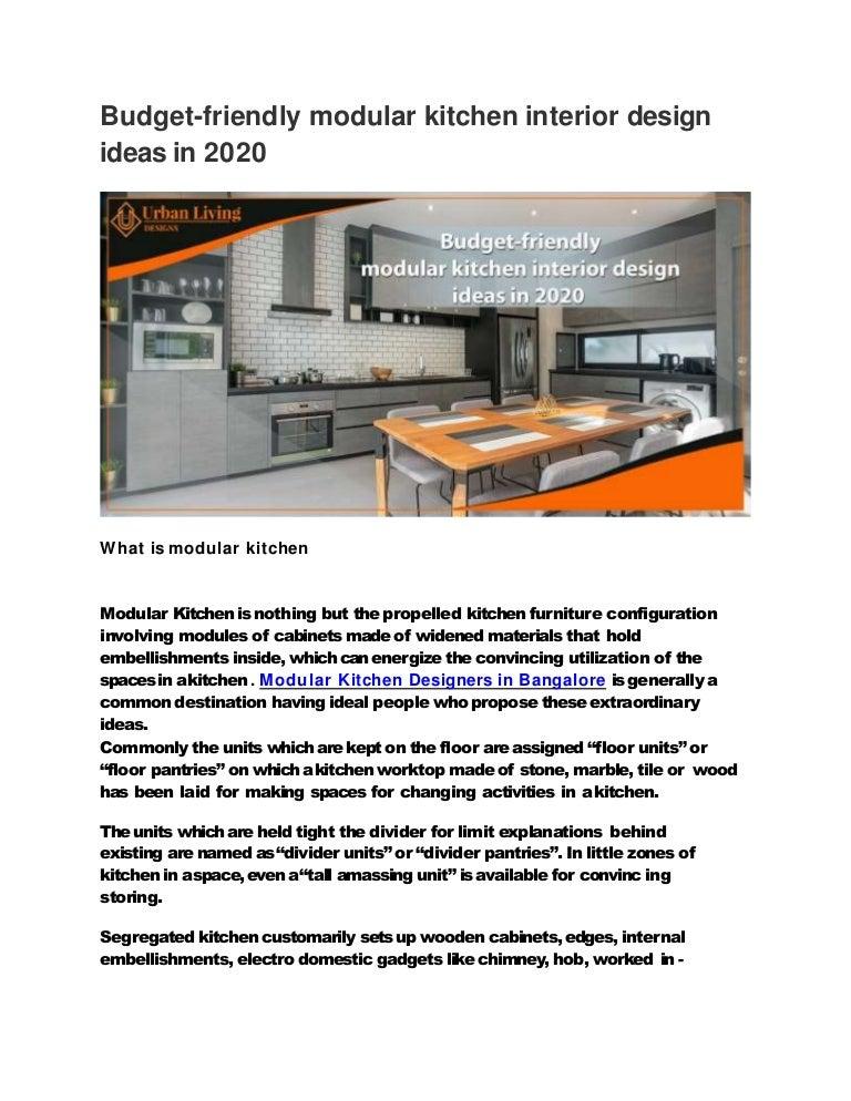 Budget Friendly Modular Kitchen Interior Design Ideas In 2020,Modern French Kitchen Design