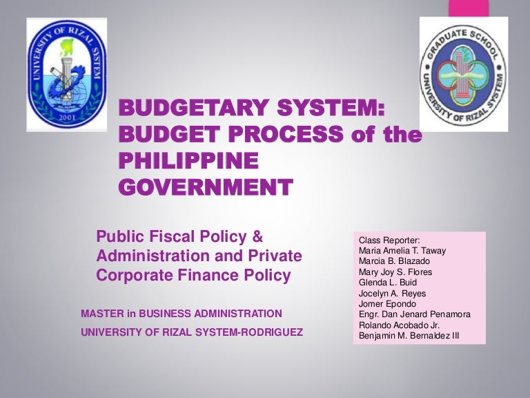 District budgetary overview essay