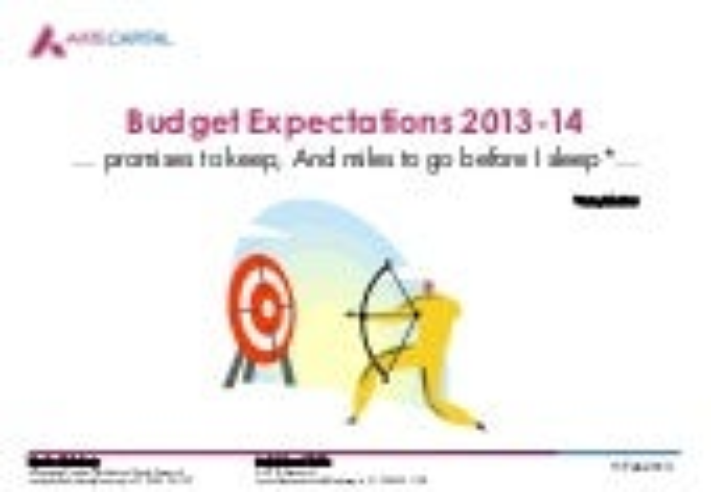 Budget expectation 2013 14 - enam