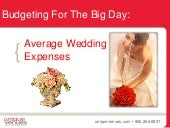 Budgeting For The Big Day: Average Wedding Expenses
