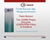 Paolo Budroni at COAR Annual Meeting