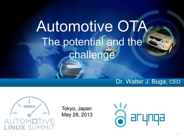 Arynga CEO, Walter Buga at Automotive Linux Summit, 5/2013