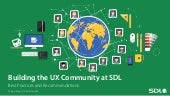 Building the User Experience Community at SDL
