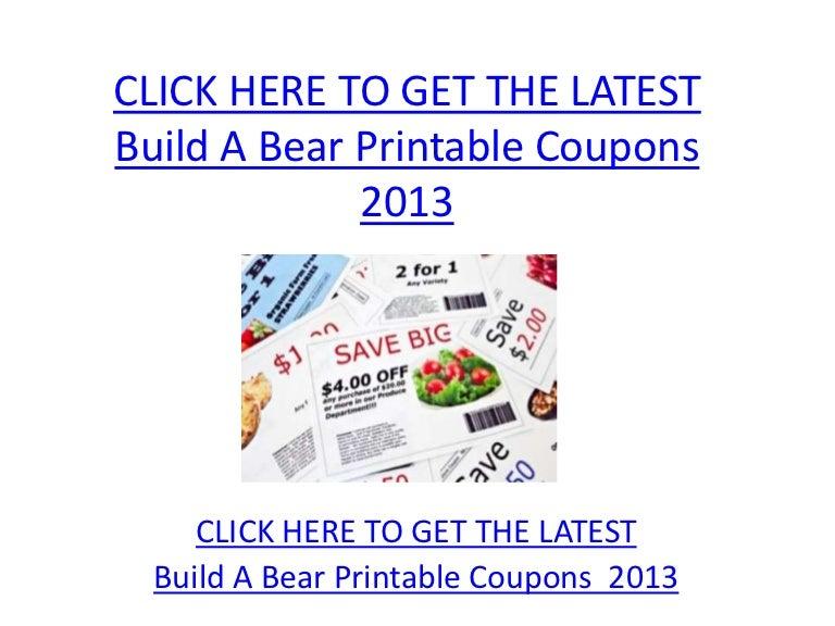 photograph regarding Build a Bear Printable Coupons referred to as Establish A Endure Printable Discount coupons 2013 - Produce A Go through Printable