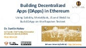 Building Decentralized Apps (DApps) in Ethereum