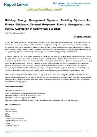 building energy management systems enabling systems for energy efficiency demand response energy management