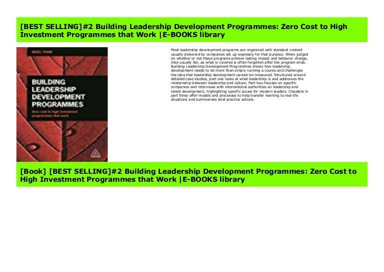 Best Selling 2 Building Leadership Development Programmes Zero Cos