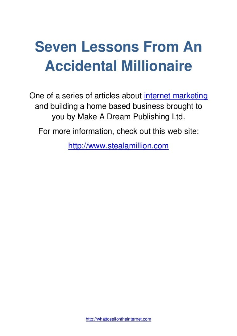 Building A Home Based Business The Accidental Millionaire Way