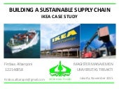 Building a sustainable supply chain IKEA CASE STUDY