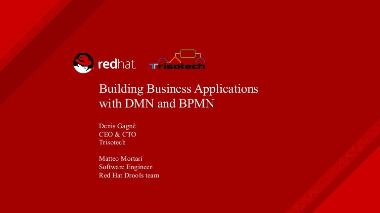Building business applications with DMN and BPMN