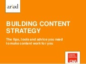 Building content strategy cma seminar february 2015