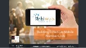 MobiWeb - Building Effective Mobile Number Lists