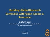 Building global research commons with open access e resources