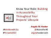 Building in Accessibility Throughout Your Project Lifecycle