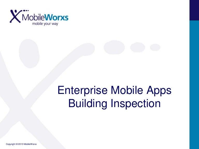 Enterprise Mobile Apps Building Inspection
