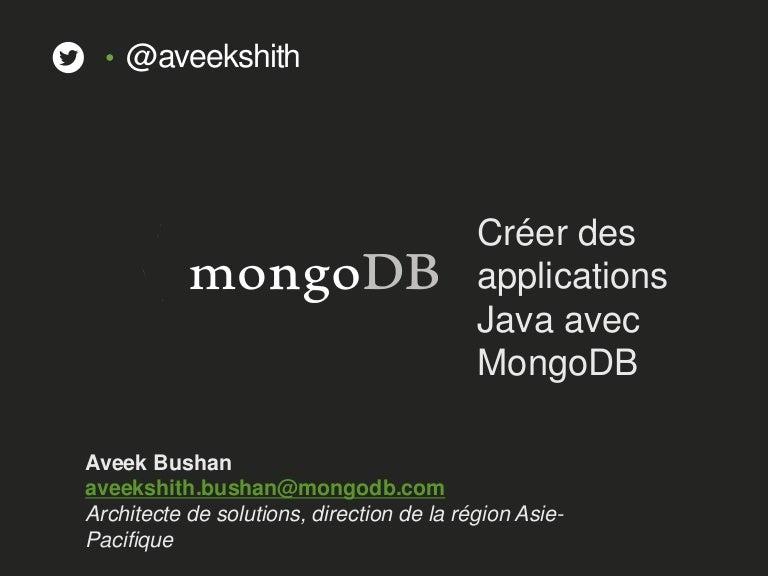 Creer Des Applications Java Avec Mongodb