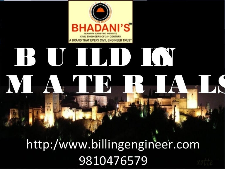 Building Construction Material Used Modern Materials