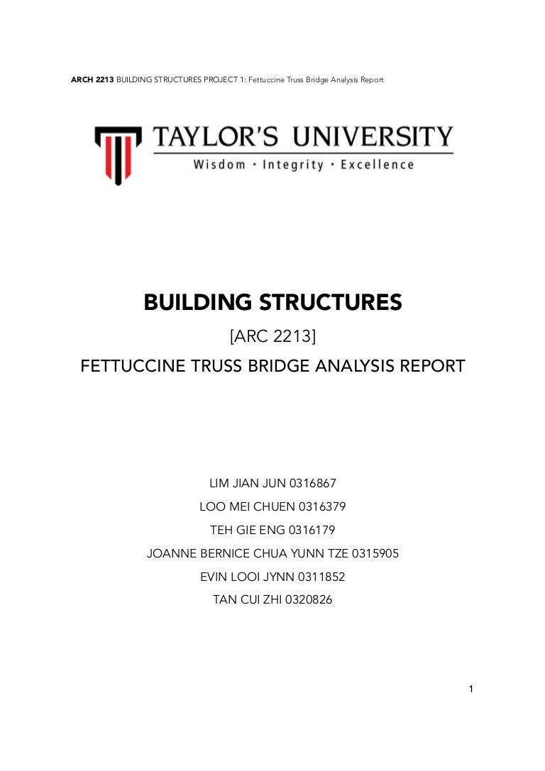Fettucine Bridge Report Truss Diagram Beam