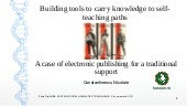 Building tools to carry knowledge to self- teaching paths: a case of electronic publishing for a traditional support