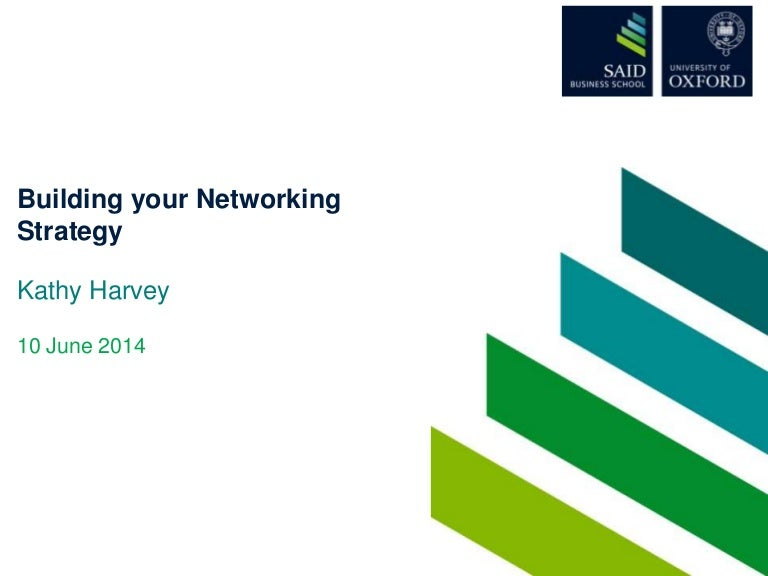 Building your network strategy