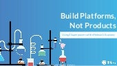 Build Platforms not Products