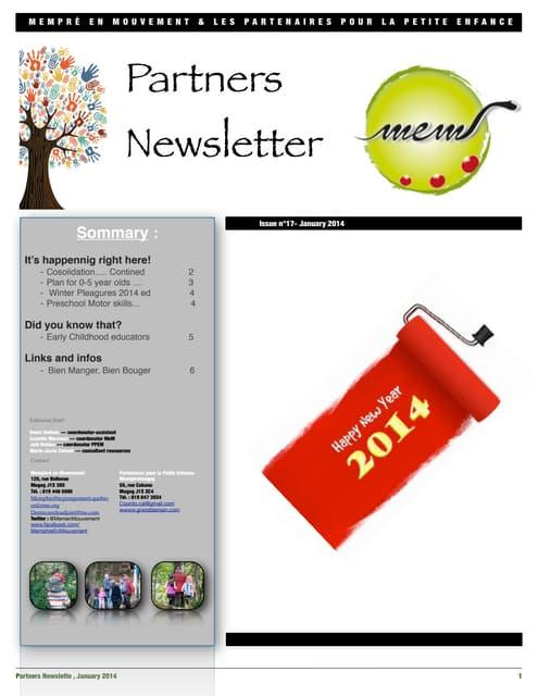 Partners Newsletter January 2014