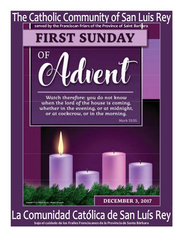 produse calde produse de calitate in stoc First Sunday of Advent Bulletin 12-02-3017