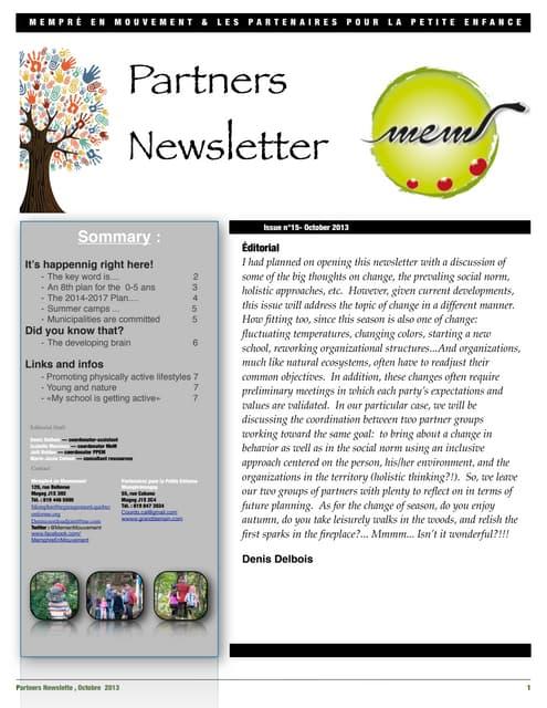 News letter PPEM-MEM, October 2013