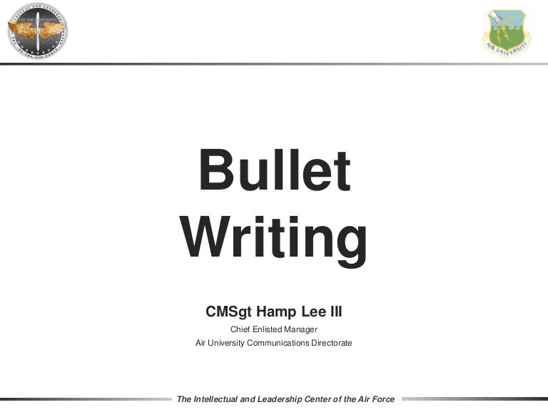Bullet Writing 2017