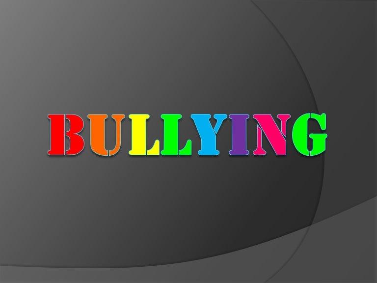 Bullying powerpoint |authorstream.