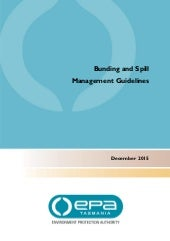 Bunding and spill management guidelines