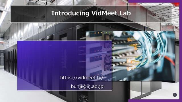 Introducing VidMeet Lab