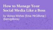 How to Manage Your Social Media like a Boss
