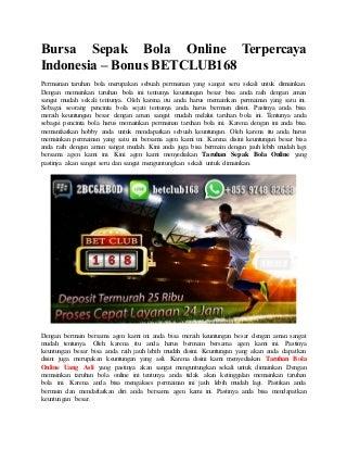 Bursa sepak bola online terpercaya indonesia