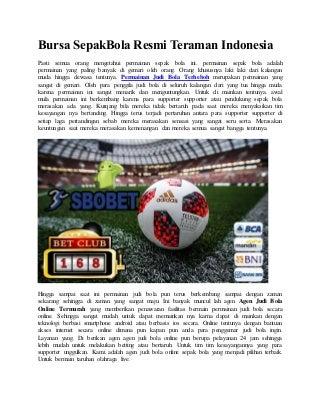 Bursa sepak bola resmi teraman indonesia