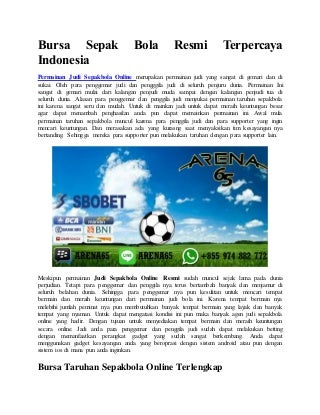 Bursa sepak bola resmi terpercaya indonesia