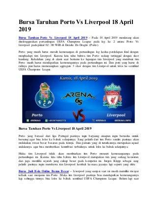 Bursa taruhan porto vs liverpool 18 april 2019
