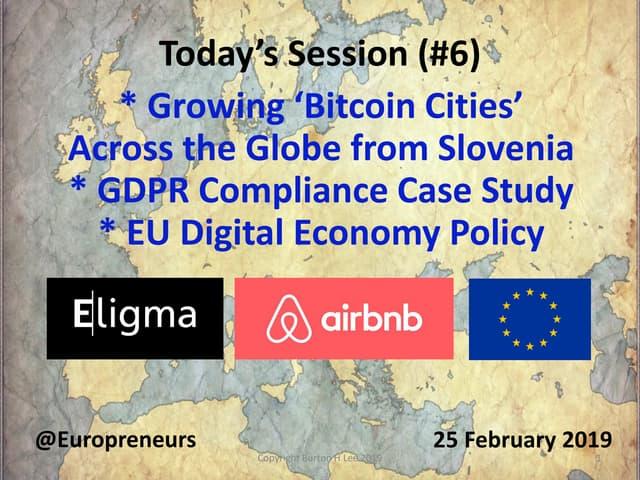 Burton Lee - Session #6 Intro - Bitcoin Cities | GDPR & Stasi Files - Stanford - 25 Feb 2019