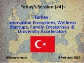 Burton Lee - Session #4 - Turkey Innovation Ecosystem - Stanford Engineering - Feb 4 2019