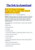 BUS475 Week-2 SWOT Analysis