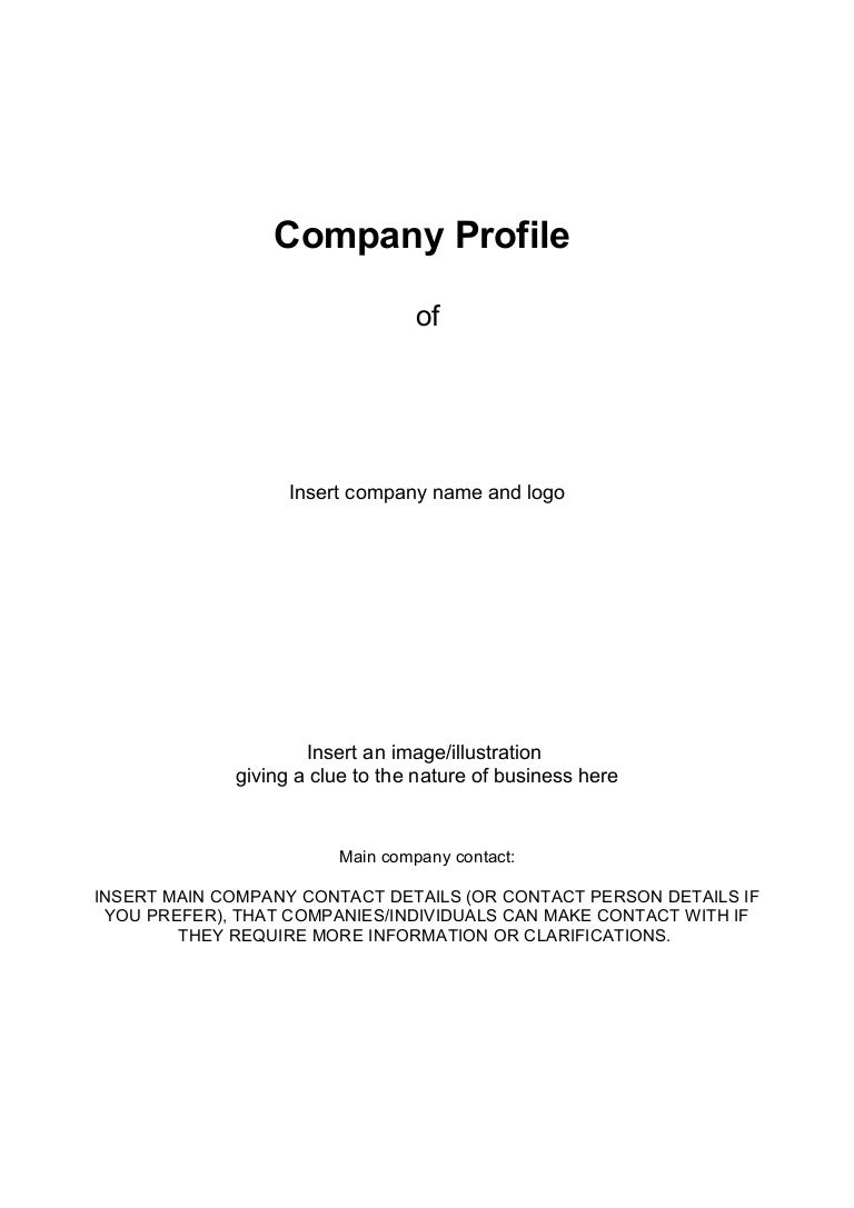 Business companyprofiletemplatedocdoc765 – Sample Business Profile Template